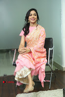 Actress Ritu Varma Pos in Beautiful Pink Anarkali Dress at at Keshava Movie Interview .COM 0224.JPG