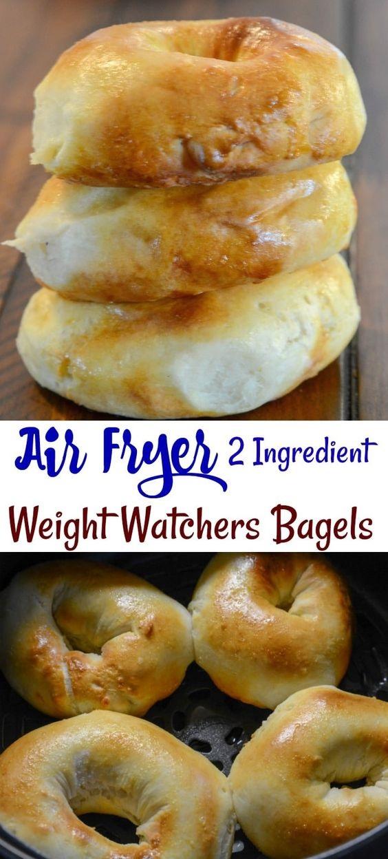 Air Fryer 2 Ingredient Weight Watcher Friendly Bagels