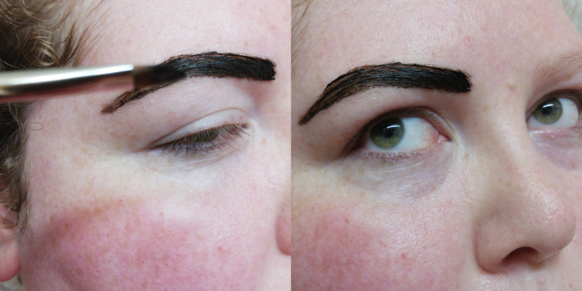 Style or else quick and easy eyebrow tintingdying and grooming once i have the shape applied in a nice thin coat i like to take more goop on my brush and pat it on top to really saturate the hairs solutioingenieria Gallery