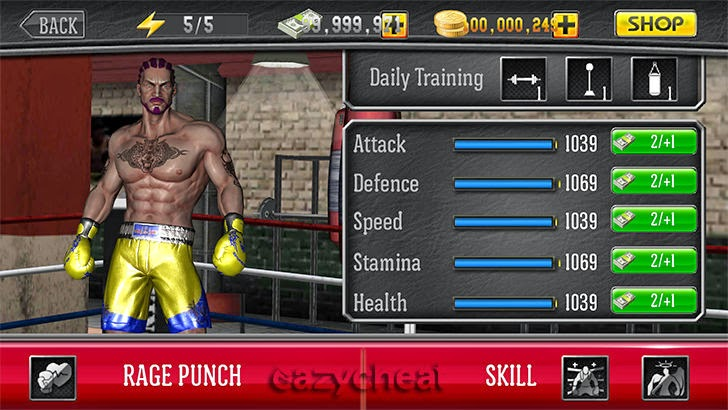 Punch Boxing 3D Cheats