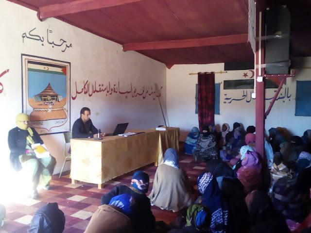 اتحاد عمال التعليم والتربية والتكوين الصحراويين يباشر الندوات التحسيسية بدور وأهمية المعلم الصحراوي في بناء المجتمع