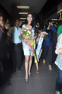 Miss Asia Pacific World 2012 Himangini Singh' Yadu's First Look at Airport