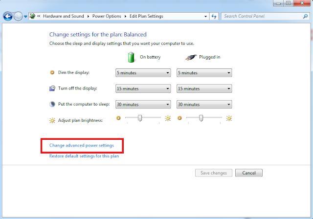 hướng dẫn đặt lại chế độ cảnh báo pin laptop