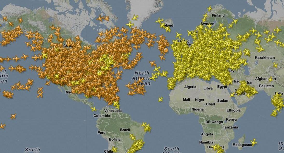 Rotte dei voli aerei: come seguirle in diretta su internet