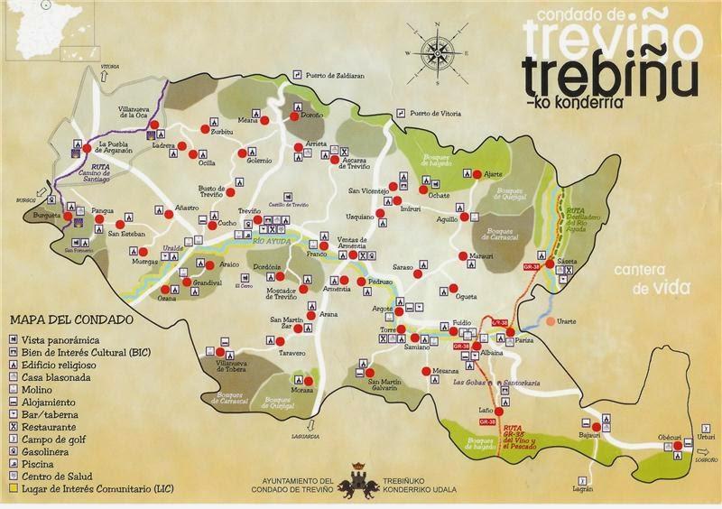 Condado De Treviño Mapa.El Ultimo Condill 1357 El Condado De Trevino