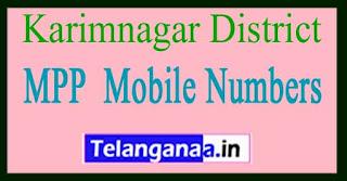 Telangana State MPP Mobile Numbers List Karimnagar District