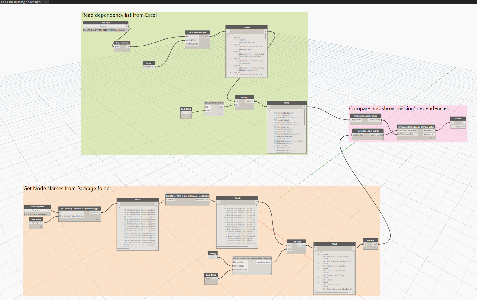 What Revit Wants: Batch Checking Dependencies of your Dynamo Nodes