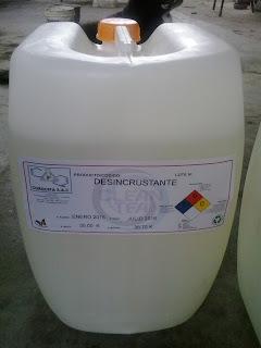 Producto de limpieza industrial ecológico.