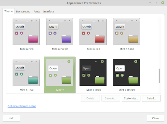 Linux Mint 18 themes, Mint-Y light