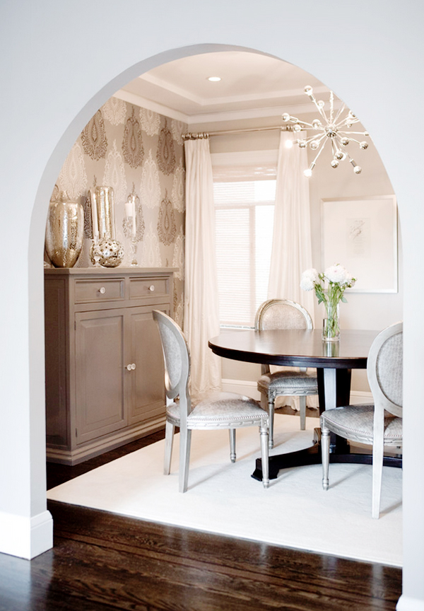 A wallpaper accent wall b a s blog - Dining room wallpaper accent wall ...