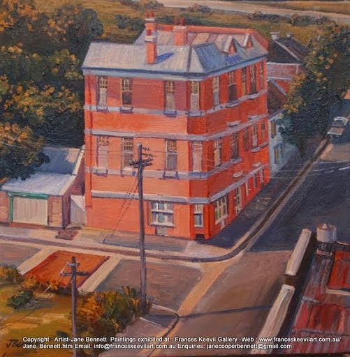 "plein air oil painting of the ""ex Pyrmont Arms"" in Pyrmont by artist Jane Bennett"