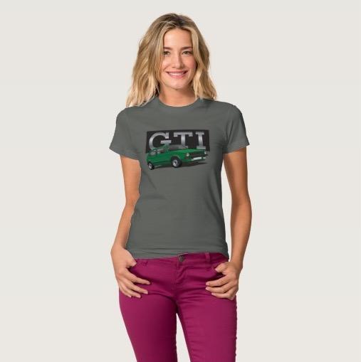 VW Golf GTI MK1 green t-shirt