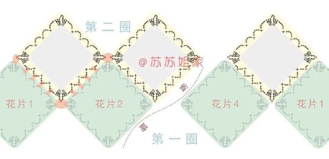 Схемы вязания топика из мотивов (2)