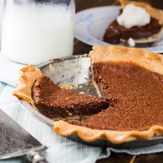 Chocolate Chess Pie recipe from Served Up With Love