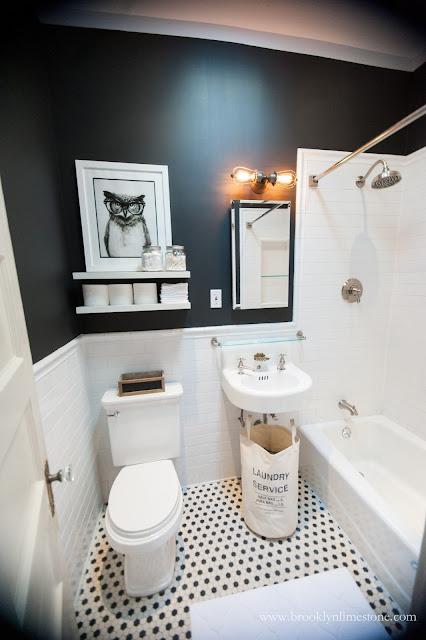 Black And White Bathroom Mini Makeover Complete Brooklyn Limestone