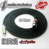Kabel Mic XLR Female To RCA 15 Meter Kabel Audio Technica