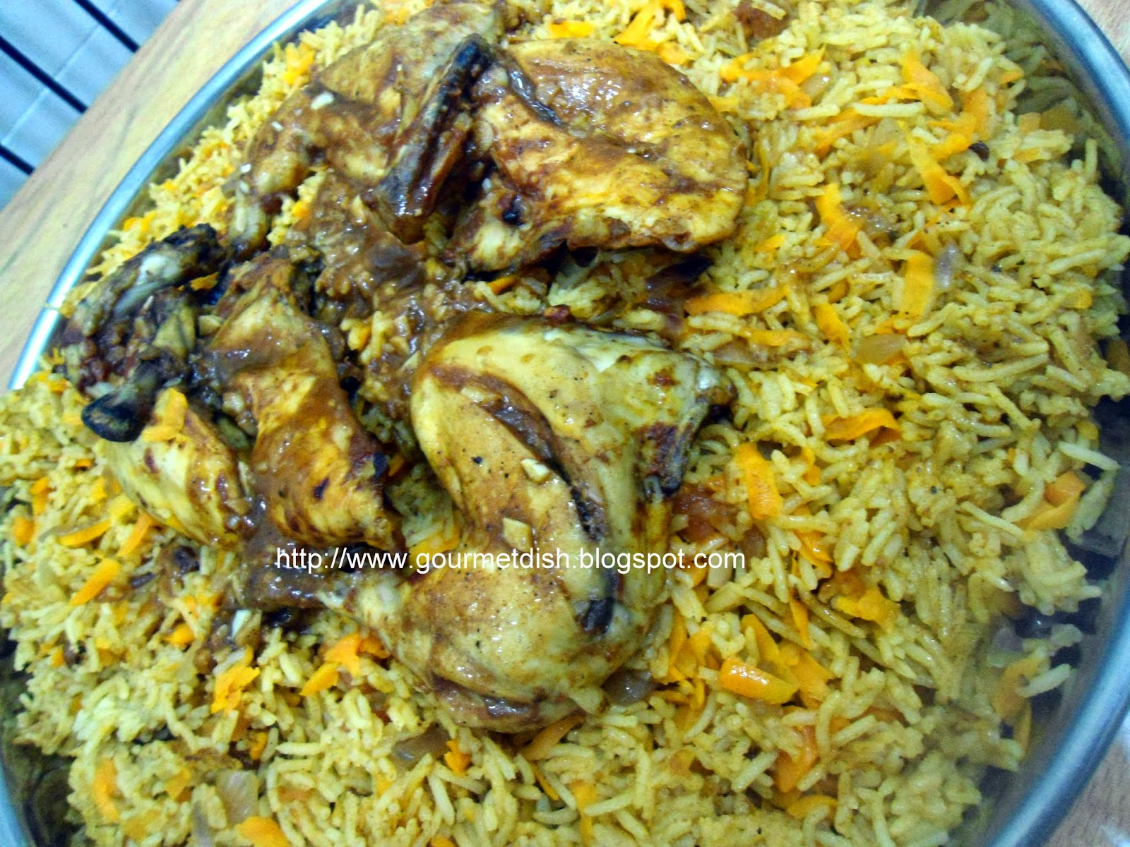 Al Kabsa - Traditional Saudi Rice And Chicken) Dish Recipe ...