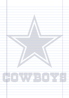 Papel Pautado Dallas Cowboys PDF para imprimir na folha A4