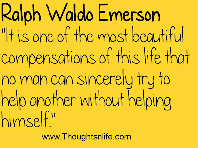 Thoughtsnlife.com :It is one of the most beautiful compensations of this life~Ralph Waldo Emerson