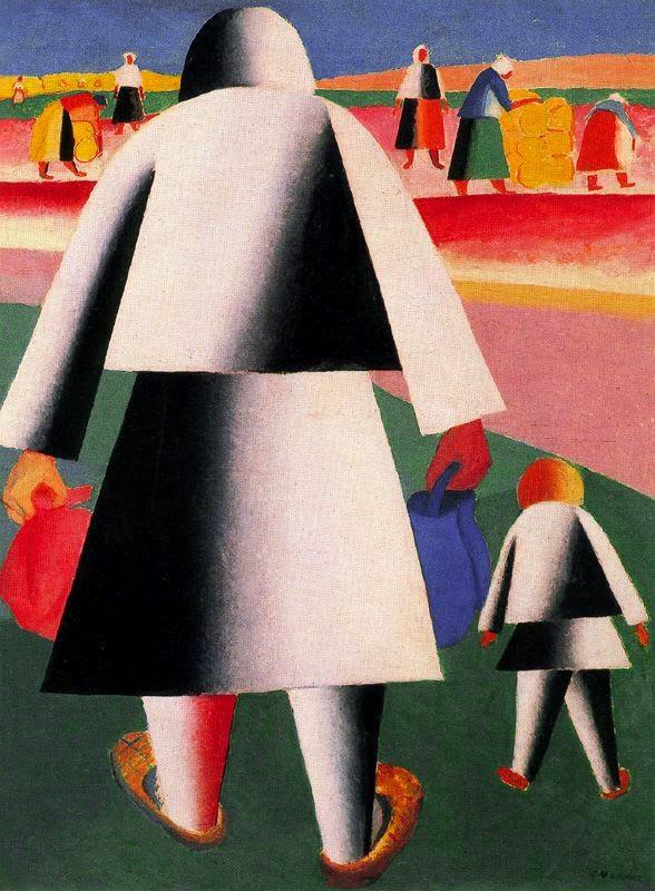 Indo a Colheita - Kasimir Malevich e suas pinturas com elementos geométricos abstratos