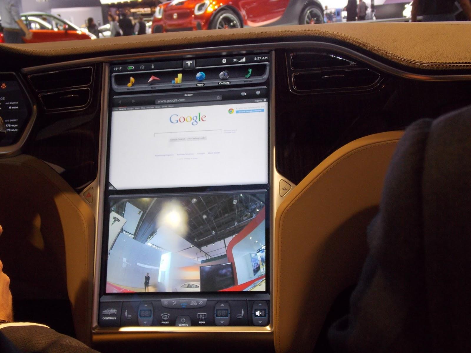 voiture communicante tesla model s et x une m ga tablette au tableau de bord. Black Bedroom Furniture Sets. Home Design Ideas