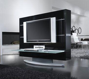 muebles para tv modernos decorando mejor. Black Bedroom Furniture Sets. Home Design Ideas