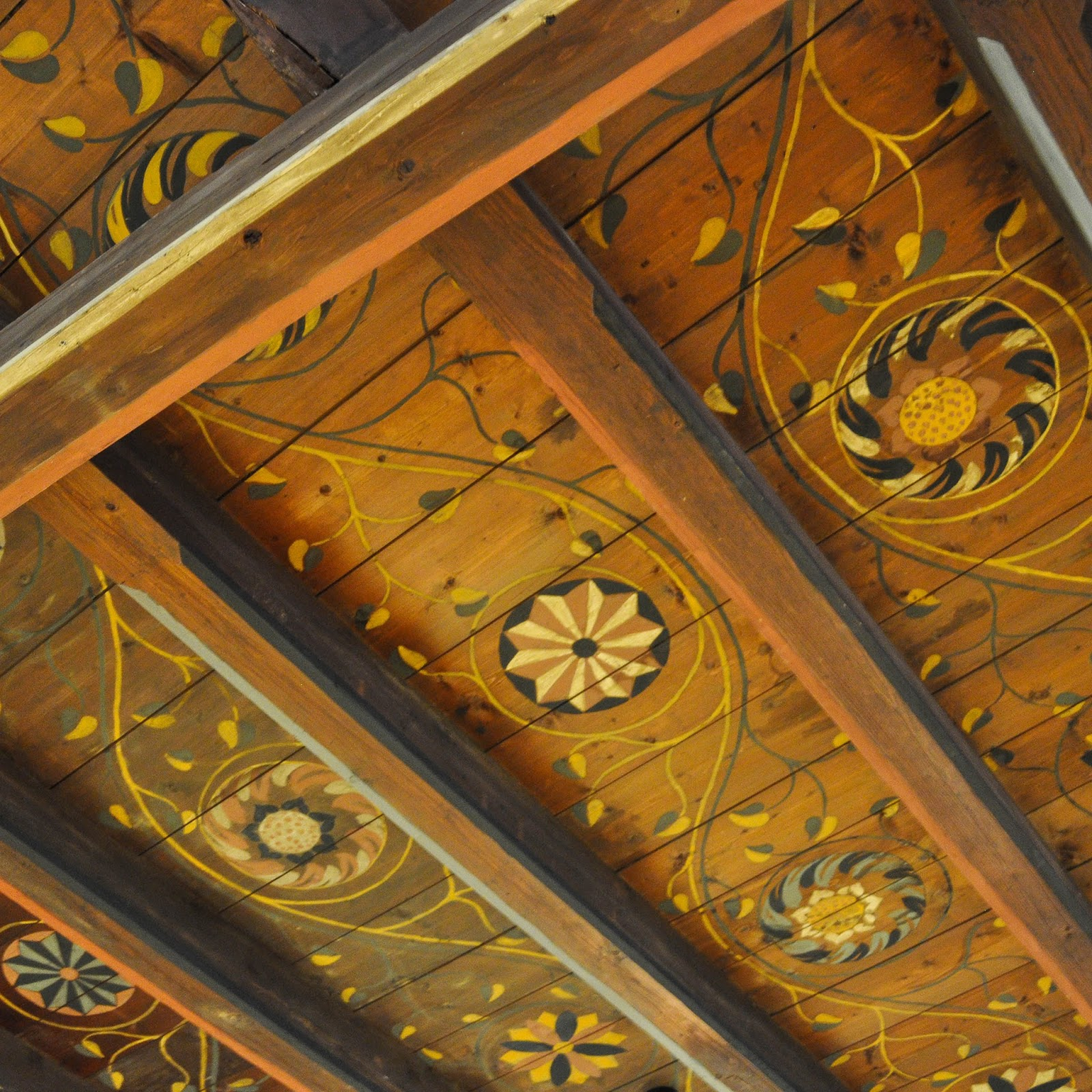 Painted ceiling, Runkelstein Castle, Bolzano, South Tyrol, Italy