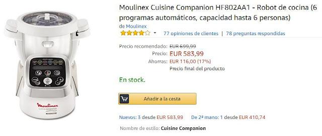 Comprar Moulinex Cuisine Companion en Amazon