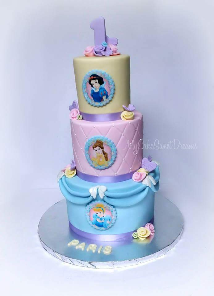My Cake Sweet Dreams Disney Princess 1st Birthday Cake