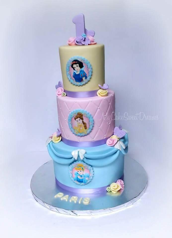Tremendous Cakesbyzana Disney Princess 1St Birthday Cake Birthday Cards Printable Benkemecafe Filternl