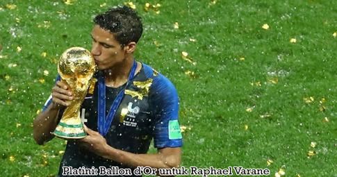 Platini: Ballon d'Or untuk Raphael Varane