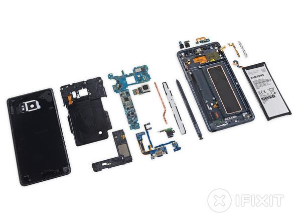 Inilah jeroan Samsung Galaxy Note 7
