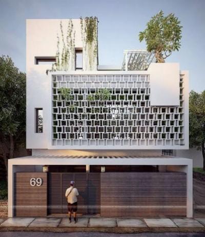 rumah futuristik kontemporer