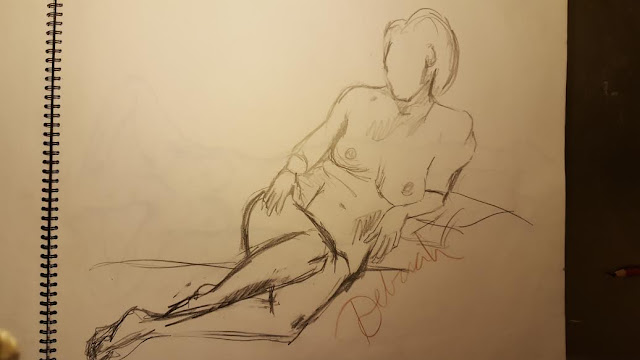 nude female, nude model, naken modell