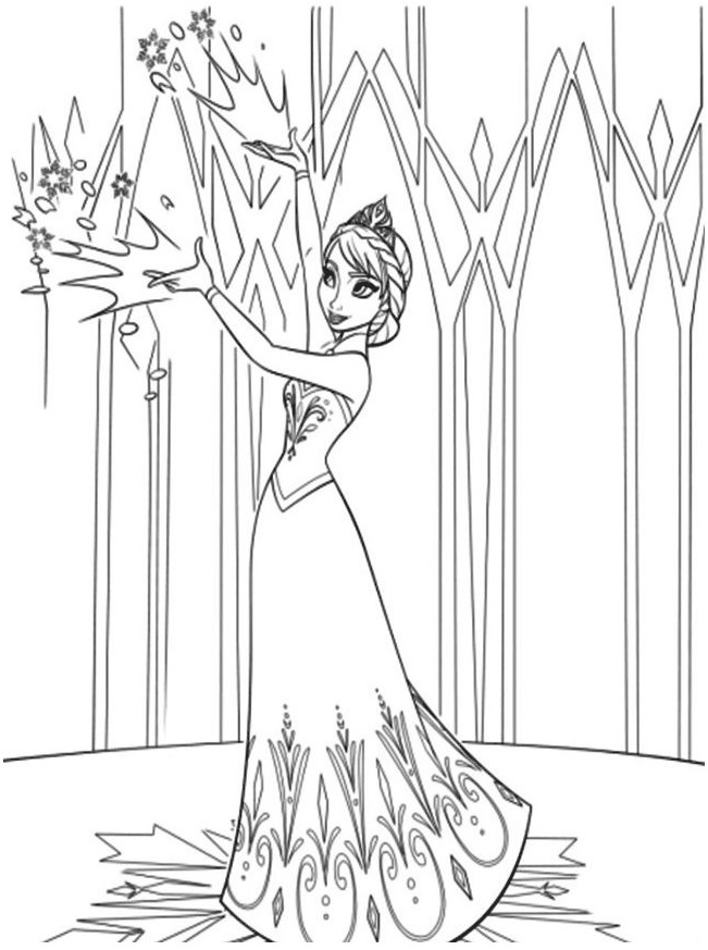 Gambar Mewarnai Istana Frozen Terbaru 2018  gambarcoloring