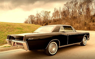 1966 Lincoln Continental Luxury Coupe Side Rear