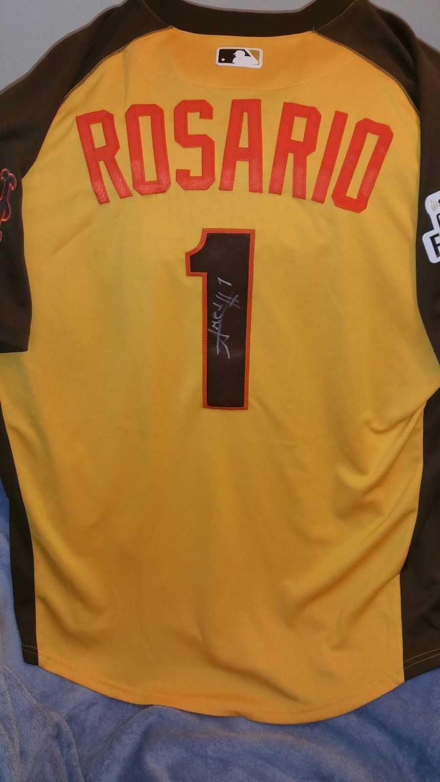 new style 6592d d97dc TheMediagoon.com: Amed Rosario signed game used futures game