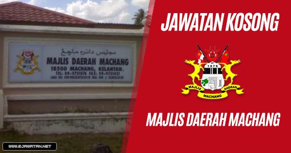 jawatan kosong kerajaan Majlis Daerah Machang 2018