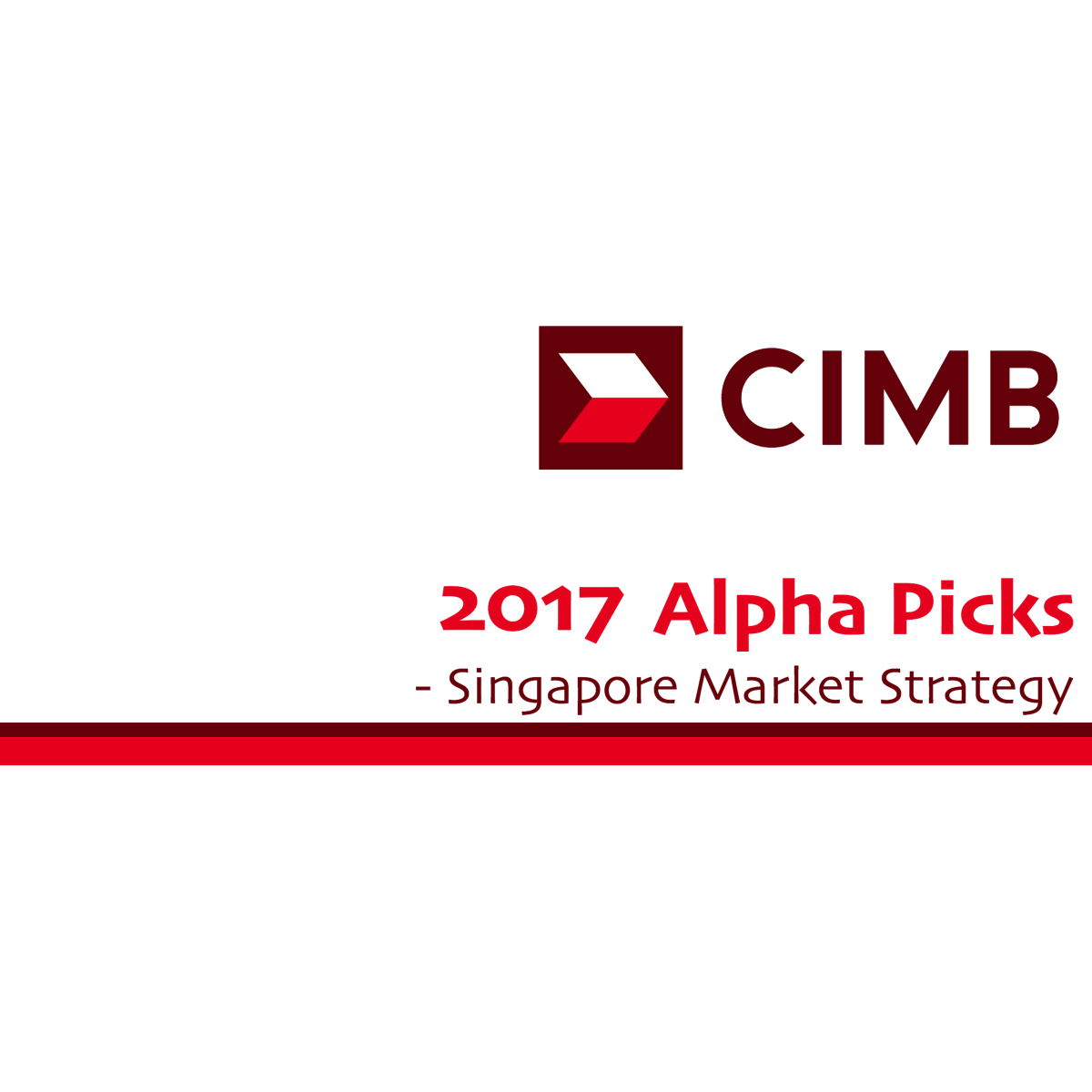 Singapore Strategy - CIMB Research 2016-12-05: Alpha Picks For 2017