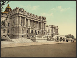The West façade of the Library of Congress in 1898