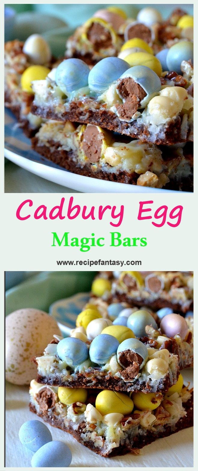 Cadbury Egg Magic Bars