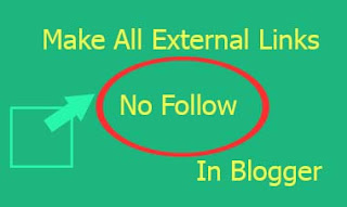 automatically make all external link nofollow in blogger