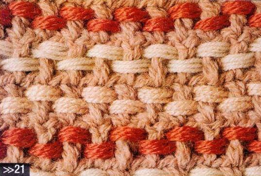 Patrón #1086:Punto Tupido a Crochet