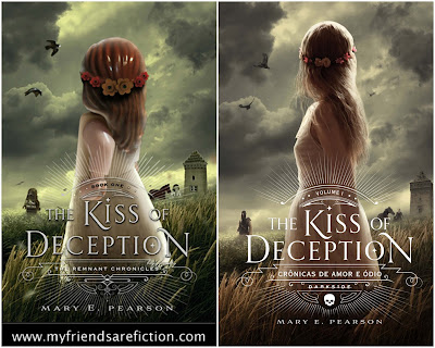 Comparação Capa Original e Lego The Kiss of Deception