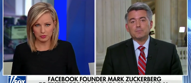 Cory Gardner Fears Zuckerberg Hearings Could Lead To Government Regulation Of The Internet [VIDEO]