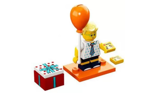 Lego Collectible Minifigures Series 18: Orange Balloon Party Attendee