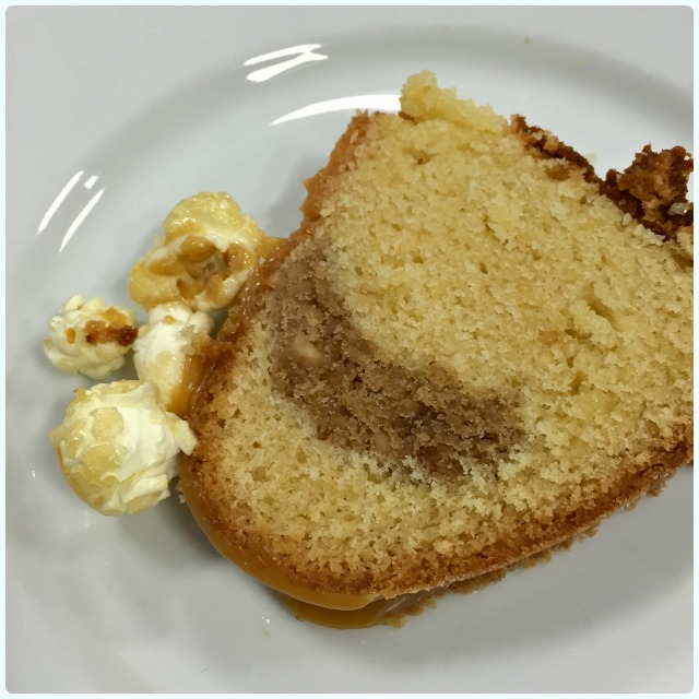 Salted Caramel and Peanut Bundt Cake