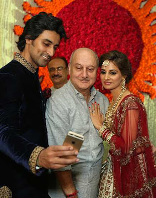Anupam kher in Kunal Kapoor & Naina Bachchan Wedding Reception
