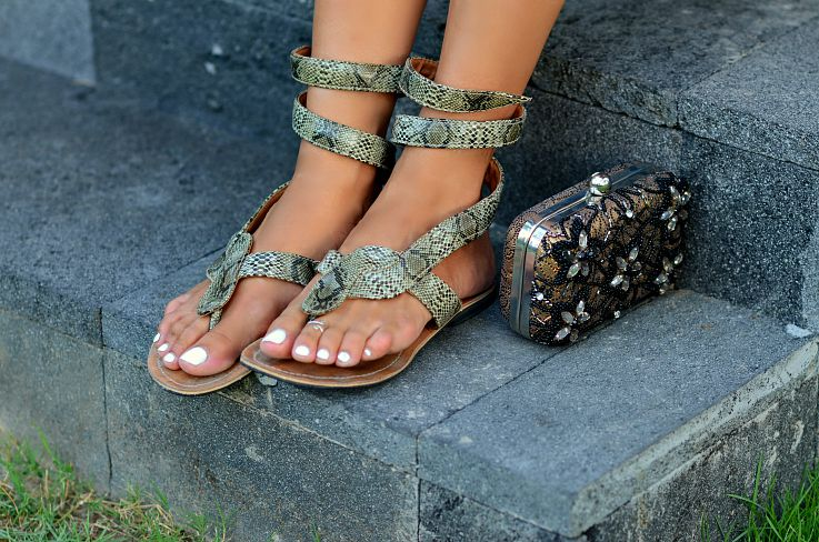 Snake skin sandals, Bali, Indonesia