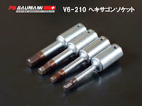 PB 1/4ショートヘキサゴンレンチV6-210-3、V6-210-4、V6-210-5、V6-210-6